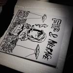 22.3.: Kapu, LP-Cover-Zeichnen